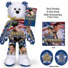 Elvis Presley in the Army 50th Anniversary Bear