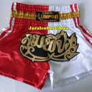 Muay Thai Kick Boxing MMA Shorts Gold Red White L Beautiful Style Gift Boxning