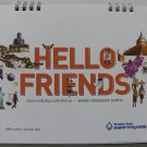 HELLO FRIENDS Desk Calendar 2014 Thailand Asia Pacific Kids Greeting Beauty Cute