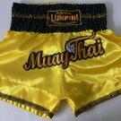 Muay Thai Kick Boxing MMA K1 Shorts UFC Yellow Gold Black White Kylin Winner L