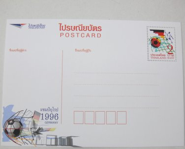 Euro 1996 Postcard Deutschland Germany Football Winner Flag Black Red Postkarte Postcard