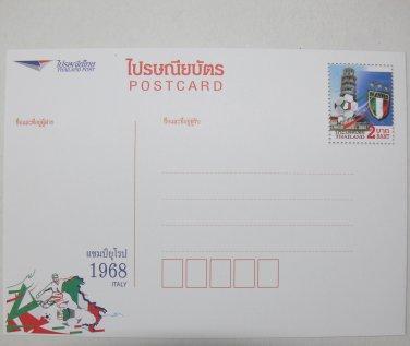Euro 1968 Postcard Italy Italia Football Winner Flag Green White Red Collection Pisa