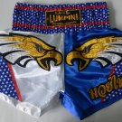 Muay Thai Kick Boxing MMA K1 Shorts USA White Red Blue Black Gold Eagle Head XL