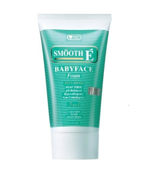Smooth E Babyface Foam Cleanser Toner Moisturizer Non Ionic Hypo allergenic 120g