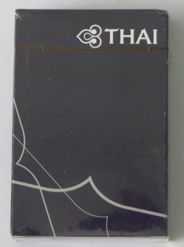 Thai Airways Air Plane Playing Card Dark Purple Collector Items 2009 Airplane