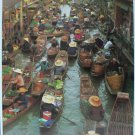 "Thailand Floating Market Famous Boat Canal Poster Year 197x Taladnam 20x30"" NEW"