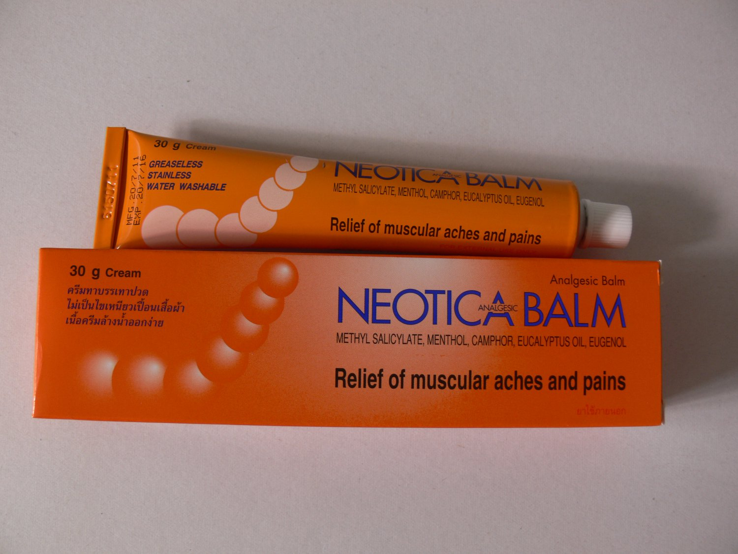Pain Relief Muscle Ache Arthritic Rheumatic Strain Sprain Insect Bite Neotica Analgesic Balm 30g