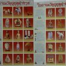 Thai Antiques 5 Era 2 Poster Amulet Stone Inscription Buddha Bowl Collection Gift