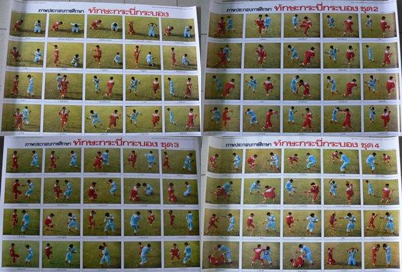 Thai Sword Krabi Krabong Thailand Oriental Action Training Education Poster Gift Set (4 Posters)