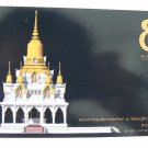 Postcard Thai India Kusinara Temple White Gold Architectural Drawing NEW Limited
