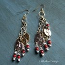 Red Jasper and hearts earrings