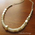 Buttercream Pearl series:  Buttercream pearls and gold chain