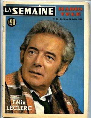 La Semaine #26 July 20-26, 1968  France