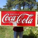 Vintage Coca Cola Metal Sign Embossed 1932 Double Coke Bottles Non Porcelain