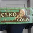 Vintage Sign Cleo Cola Soda Not Coke Genuine Embossed 1920's Art Deco