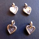 Sterling Silver Charms Hearts 925