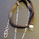Handmade Artisan Sterling Silver 925 and Deerskin Lace Wrap