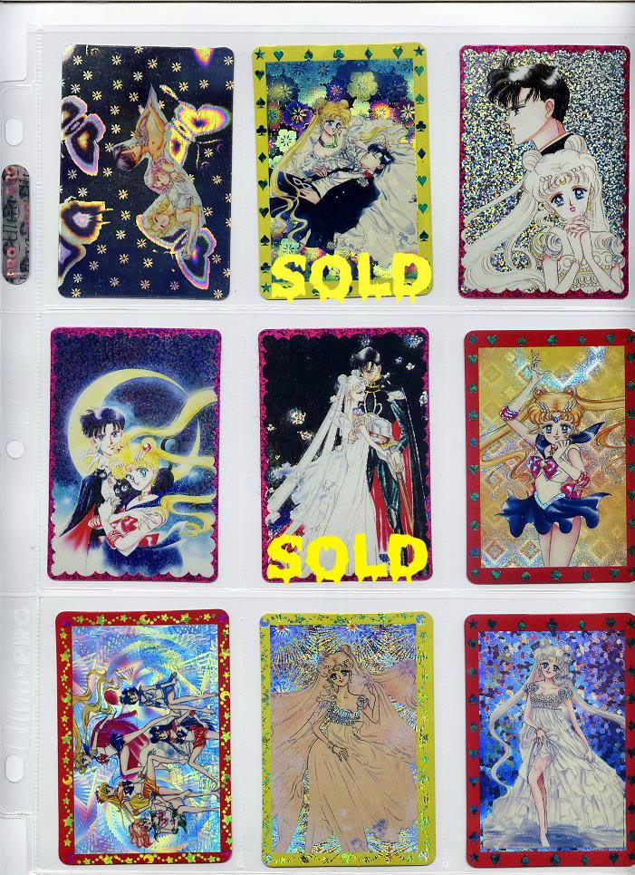 {7 CARD LOT} SAILOR MOON prism sticker card lot