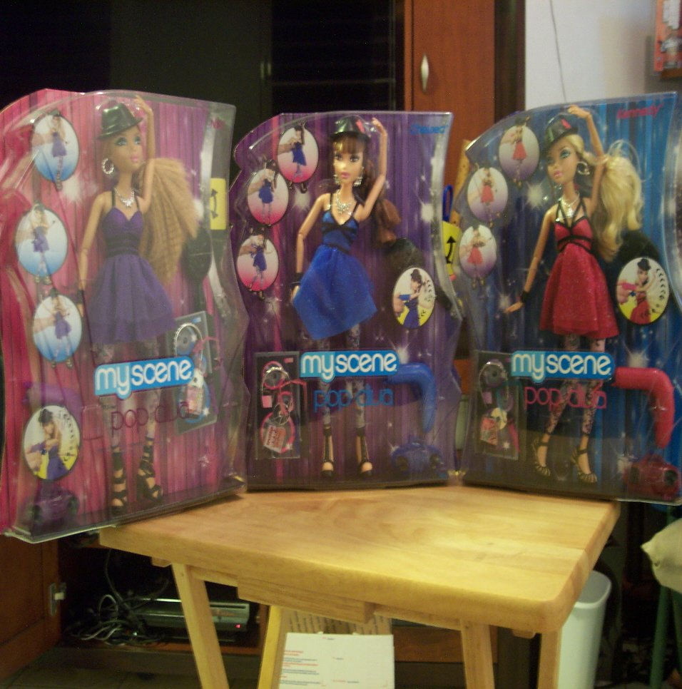 Barbie My Scene Pop Divas Set of 3 Nia, Chelsea, Kennedy
