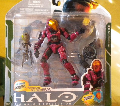 2009 McFarlane Halo 3 Series 5 Spartan Soldier EVA Crimson Diamond Exclusive