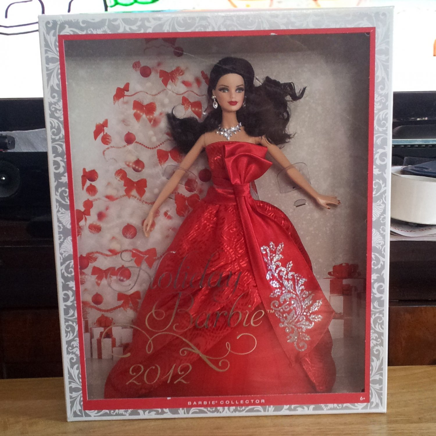 2012 Kmart Exclusive Brunette Holiday Barbie Doll NEW