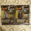 Breaking Bad Heisenberg Collectible Figure Set of 2 Original and Grey Coat/Jacket Variant by Mezco