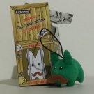 Green with Mustache Kidrobot Kozik Mini Plush Labbit with Hang Cord