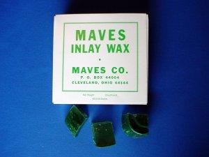 2213 Inlay Wax #2 Green Chunks Maves 1 lb.