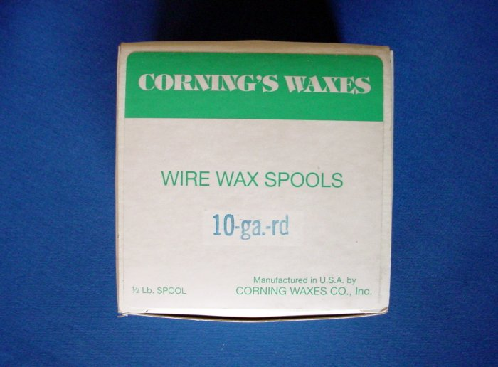 2504 Spool Wax Blue 10 ga Corning 1/2 lb.