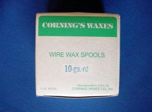 2504 Spool Wax Blue 10 ga Corning 1/2 lb.