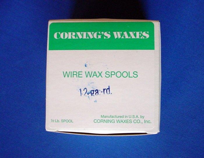2505 Spool Wax Blue 12 ga Corning 1/2 lb.