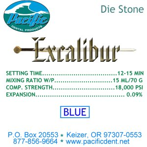 Blue Excalibur Model Stone 25 lbs.