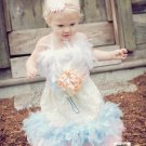 Lace and Feather Dress party photographs special occasion any color feathers