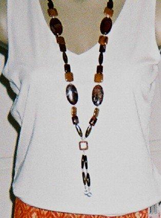 Handmade Genuine Jasper Necklace- Extra Long Length