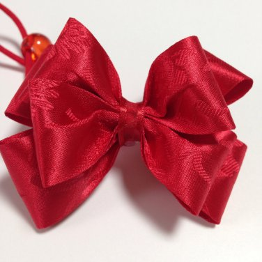 Hanbok Hair Ribbon Elastic Tie Korean Traditional Dress RED