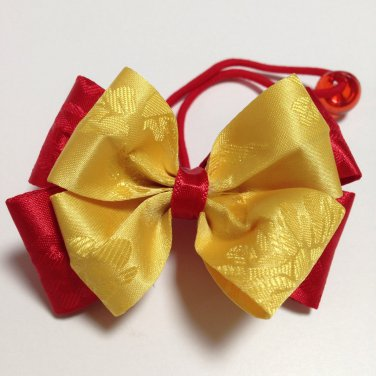 Hanbok Hair Ribbon Elastic Tie Korean Traditional Dress YELLOW RED