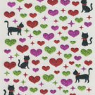 Glitter Cat Heart Sticker 100+