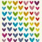 Glittry Heart Stickers 80++++