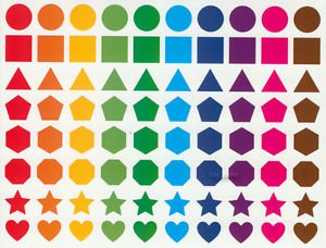 Shpes sticker Circle Heart Star Pentagon Hexagon Triangle 80