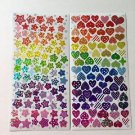 Glittry Star Heart Stickers 2 sheets