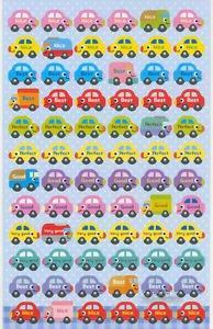 Reward Compliment Sticker Car theme 72 pieces