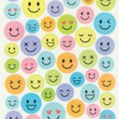 Plain Pastel Smile Face Expression Sticker Sticker 60+