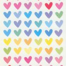 Pastel Patterned Heart  Sticker 60+