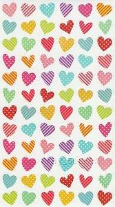 Heart Stickers 70+ dot stripe