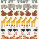 Wild Jungle Animals Stickers Lion Zebra Tiger Elephant  40+