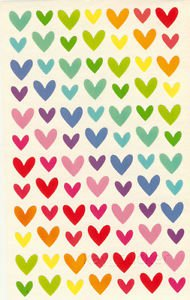Pastel Heart Stickers 80++++