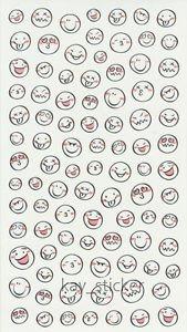 Plain White Smile Face Expression Sticker 90+