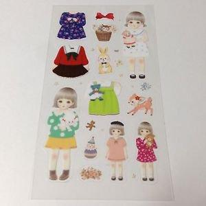 Clear Paperdoll Sticker 13pcs