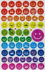 Glitter Smile Face Facial Express Sticker 60 pieces
