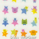 Craftholic Sock Bunny Bear Star Sticker Glossy